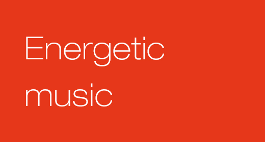 Energetic music