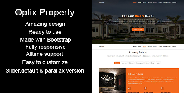 Optix-Single Property HTML5 Template - Business Corporate