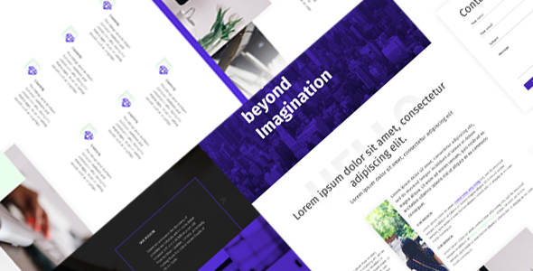 Hekko – One Page Creative PSD Template