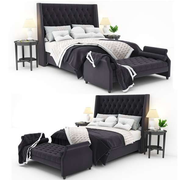 Bed collection 47 - 3DOcean Item for Sale
