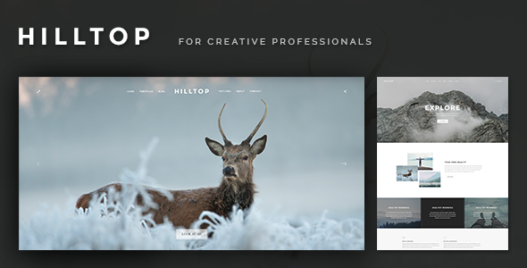 Hilltop - PSD Template for Creative Professionals - Creative PSD Templates