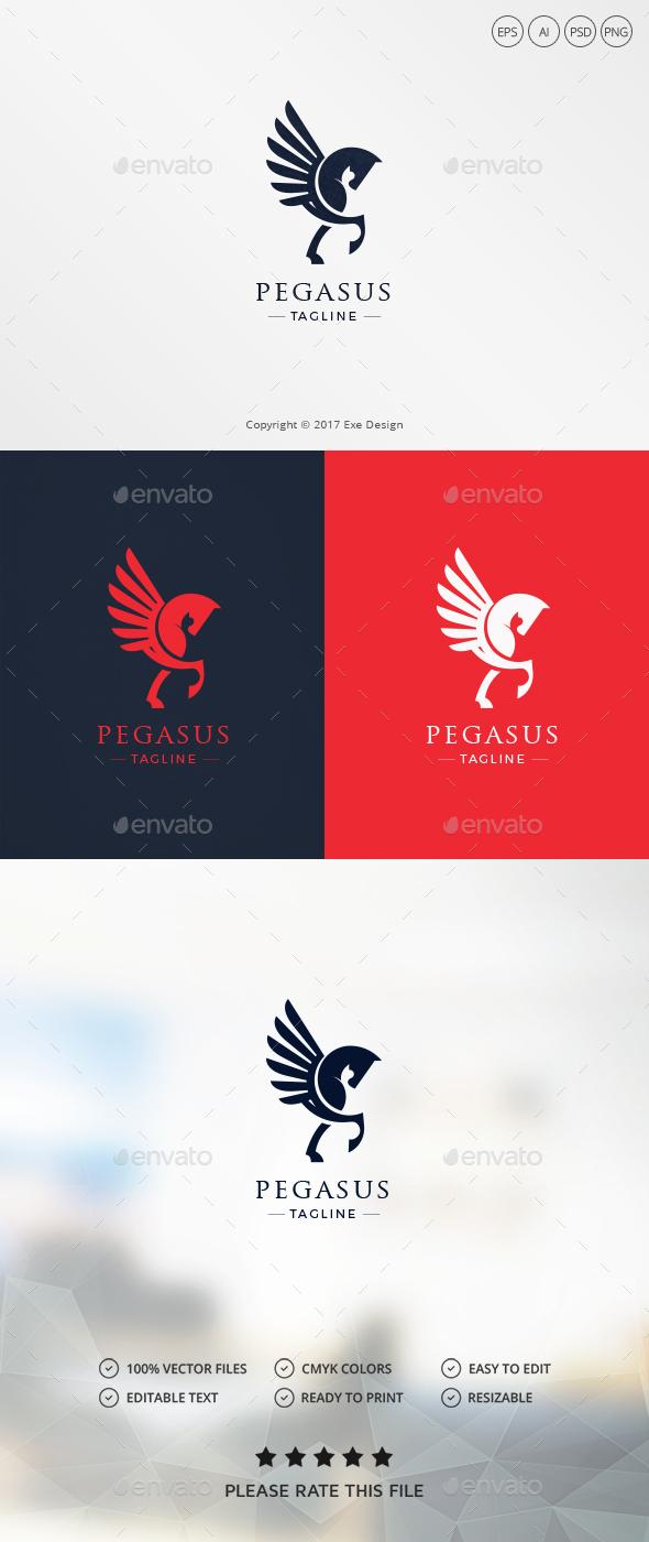 Pegasus Logo - Animals Logo Templates
