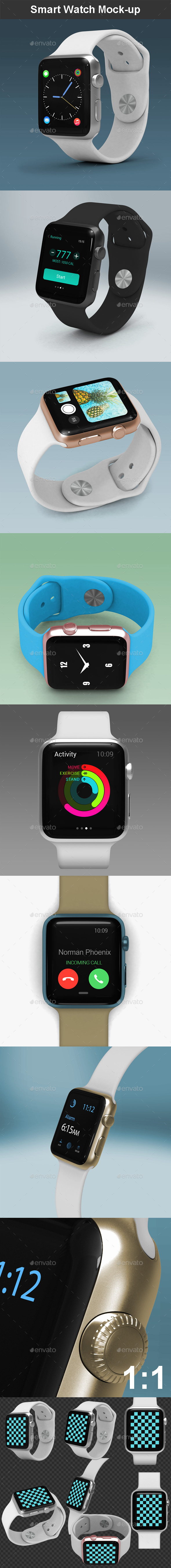Smart Watch Mock-up - Miscellaneous Displays
