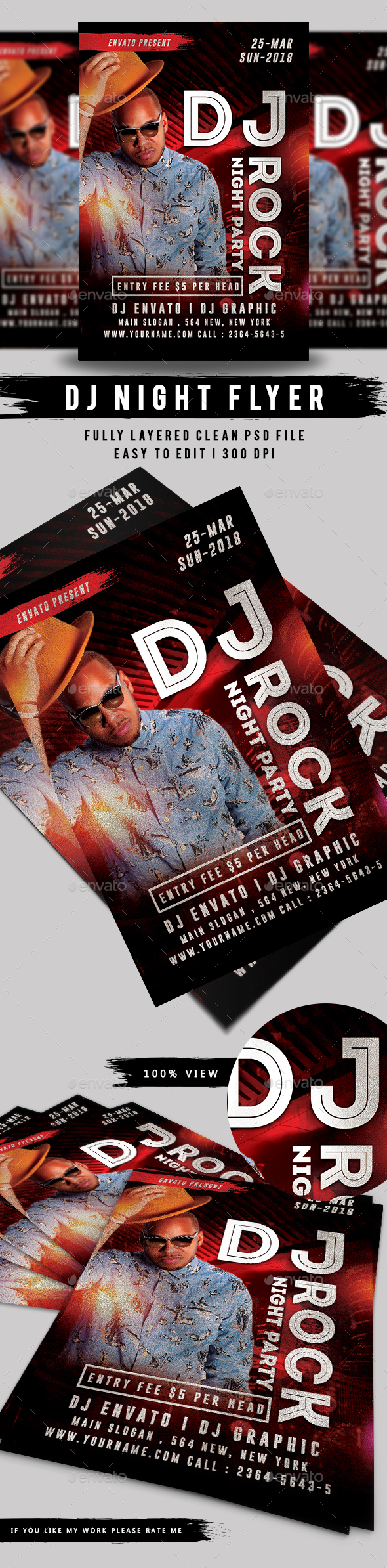 DJ Night Flyer - Events Flyers