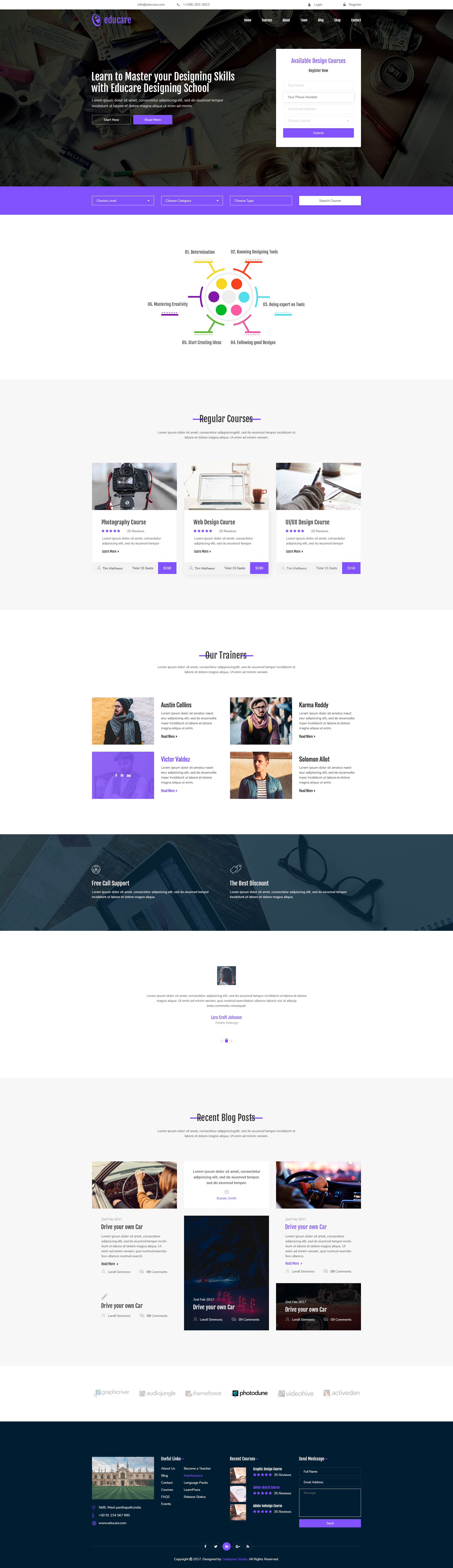 E-LMS - Learning Management System | Material PSD Template by CodePixar