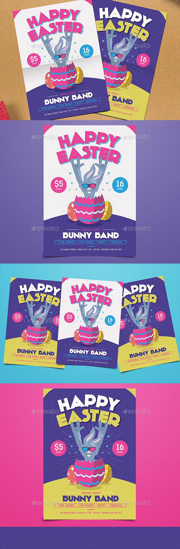 Easter Egg Party Flyer - Events Flyers