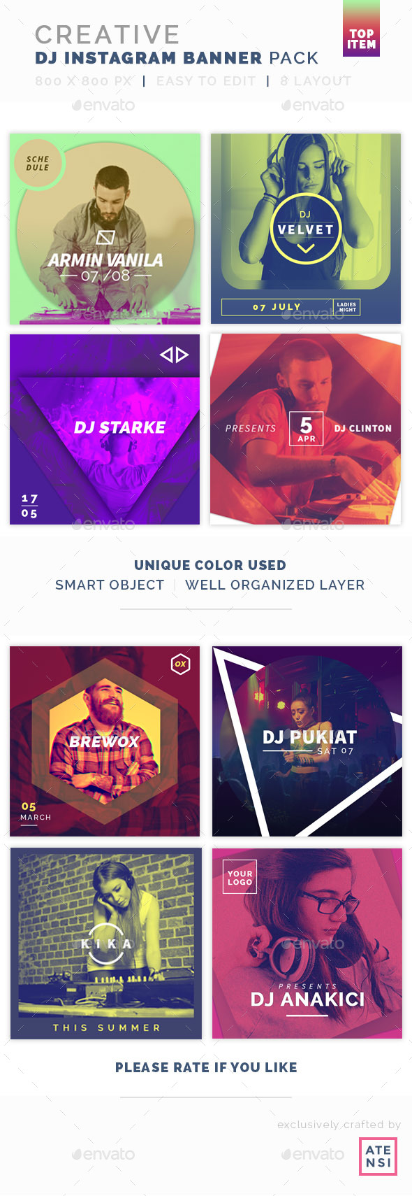 Creative Instagram Banner DJ - Social Media Web Elements