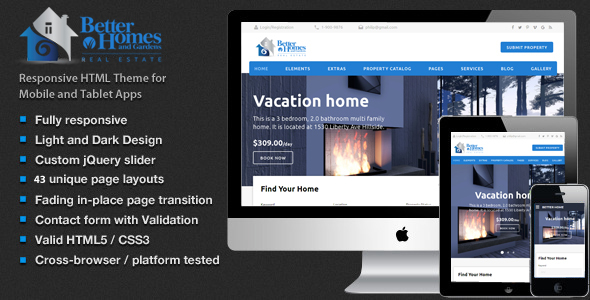 Better Home – Real Estate HTML5 Template