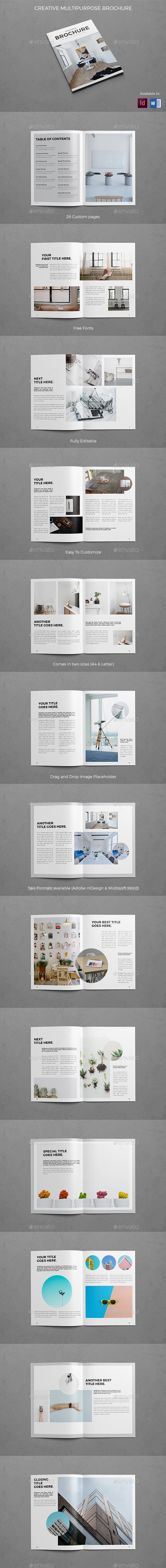 Creative Multipurpose Brochure - Brochures Print Templates