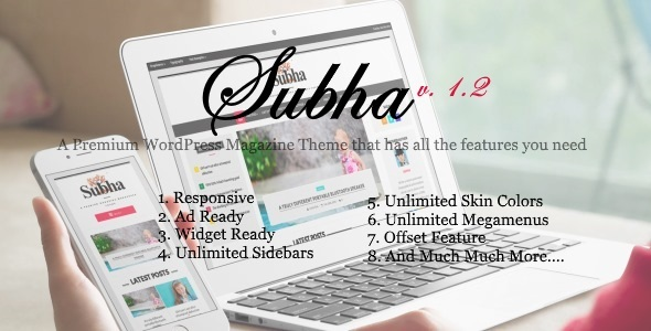 Subha - A Premium Newspaper Magazine WordPress Theme - Blog / Magazine WordPress