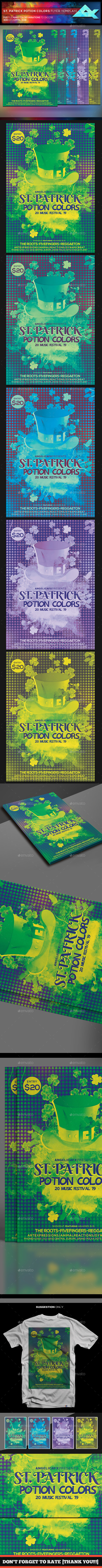 St. Patrick Potion Colors Flyer Template - Events Flyers