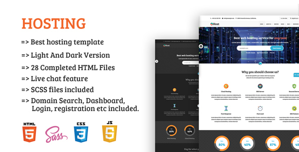 Image of Rocket Hosting - Responsive Hosting and Technology Site Template