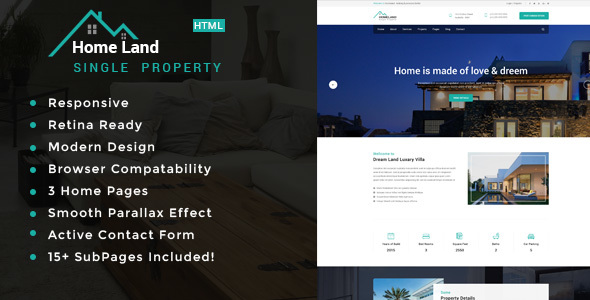 Homeland | Real Estate Single Property HTML5 Template