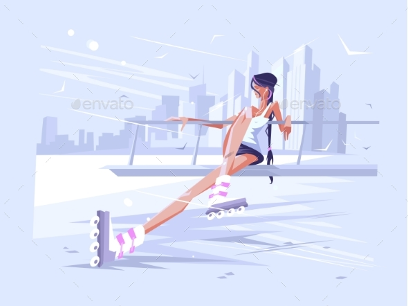 Girl in Roller - Sports/Activity Conceptual