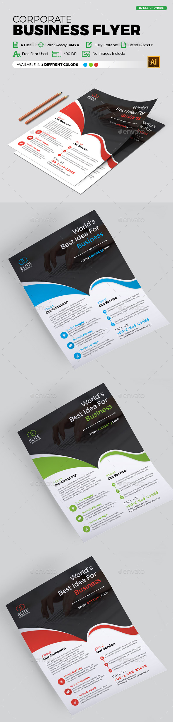 Flyer – Multipurpose 291 - Corporate Flyers