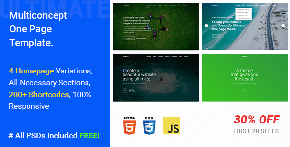 Ultimate – A Mega One Page Responsive Template