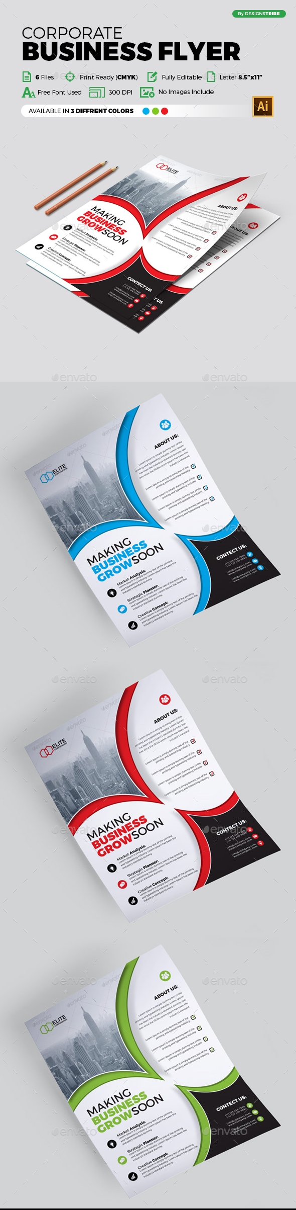 Flyer – Multipurpose 297 - Corporate Flyers