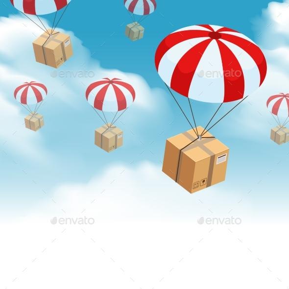 Parachute Parcel Delivery Composition - Landscapes Nature