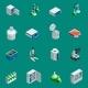 Scientific Laboratory Equipment Isometric Icons