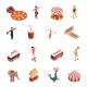 Circus Isometric Icons Set