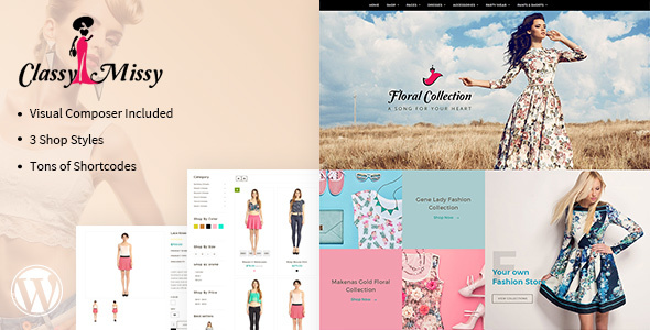 Classy Missy – WordPress Fashion Shop Theme