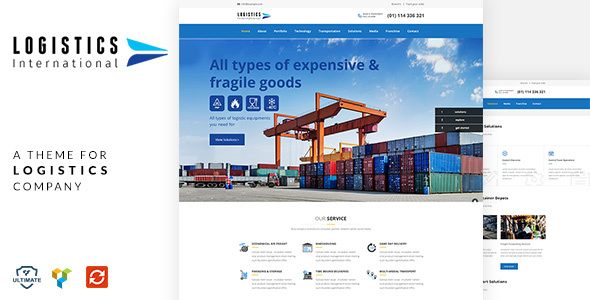 Logistics –  Transport, Logistics WordPress Theme