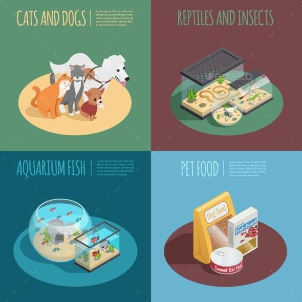 Pet Shop Concept Icons Set - Miscellaneous Conceptual