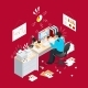 Deadline Office Isometric Composition - GraphicRiver Item for Sale