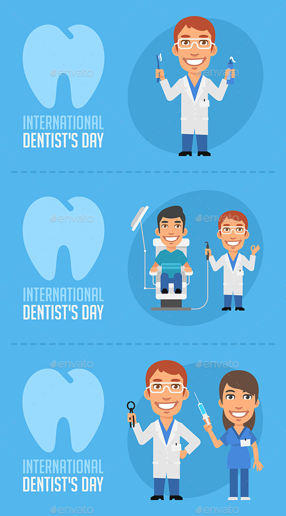 Concept Illustrations International Dentists Day - Miscellaneous Seasons/Holidays