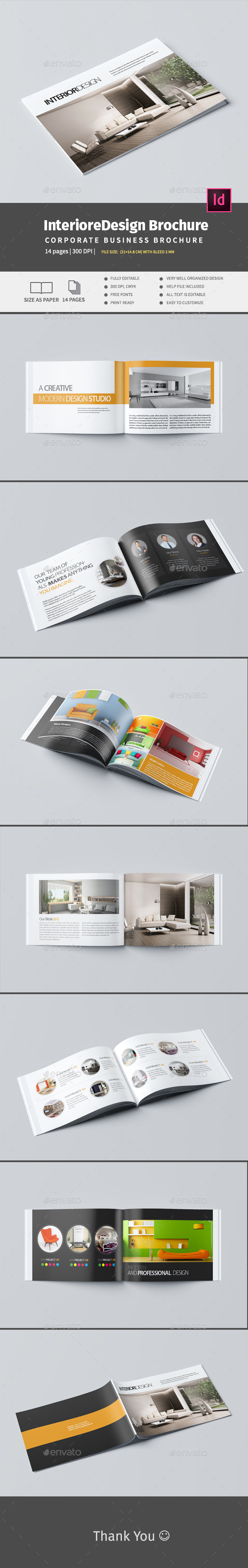 Interiore Design A5 Brochure - Catalogs Brochures