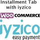 wooCommerce Installment Tab With iyzico