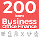 Business, Office, Finance Theme Icons Set - GraphicRiver Item for Sale