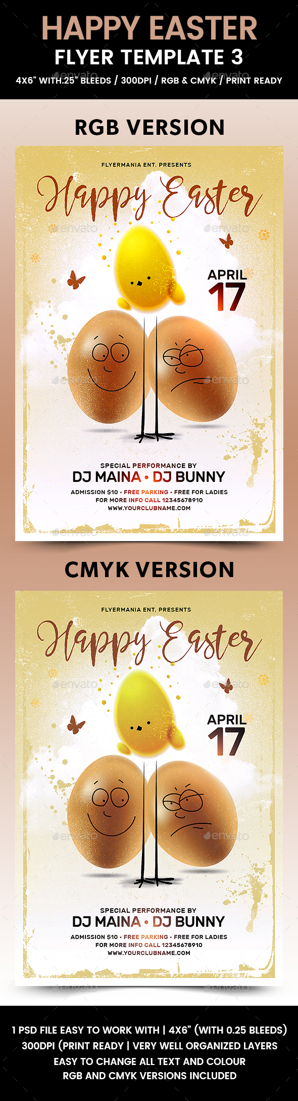 Happy Easter Flyer Template 3 - Flyers Print Templates