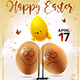 Happy Easter Flyer Template 3