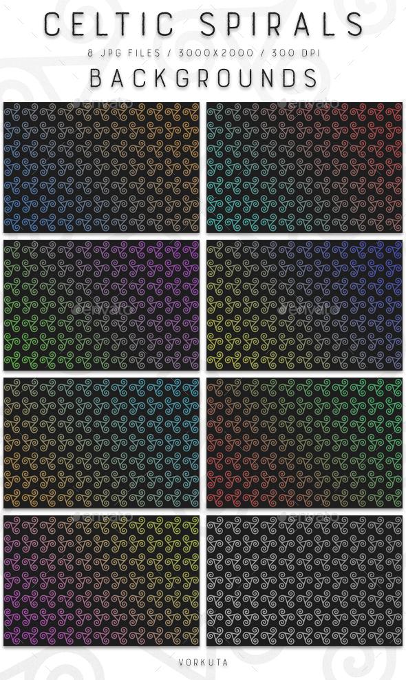 Celtic Spirals   Backgrounds - Patterns Backgrounds
