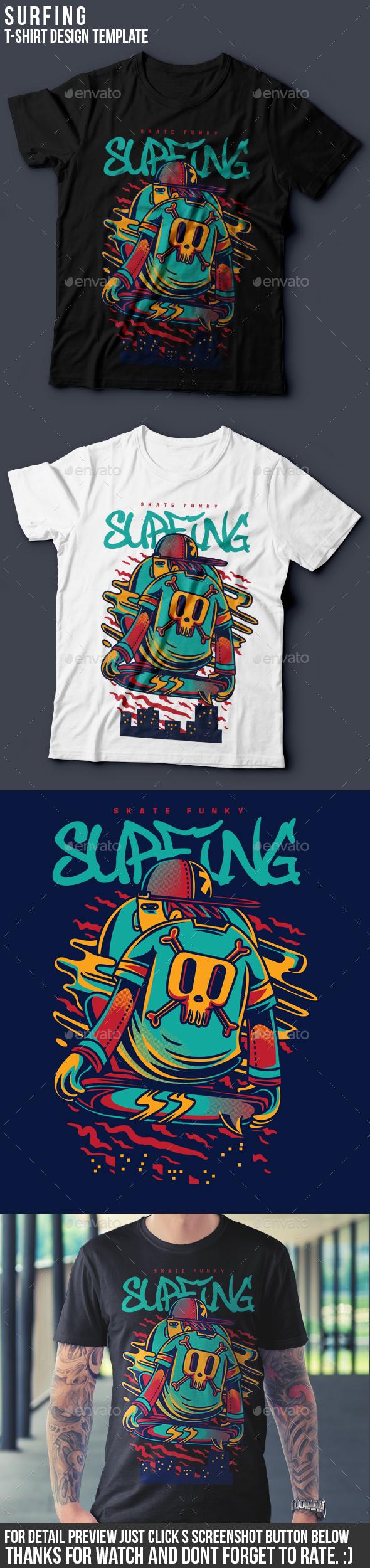Surfing T-Shirt Design - Clean Designs
