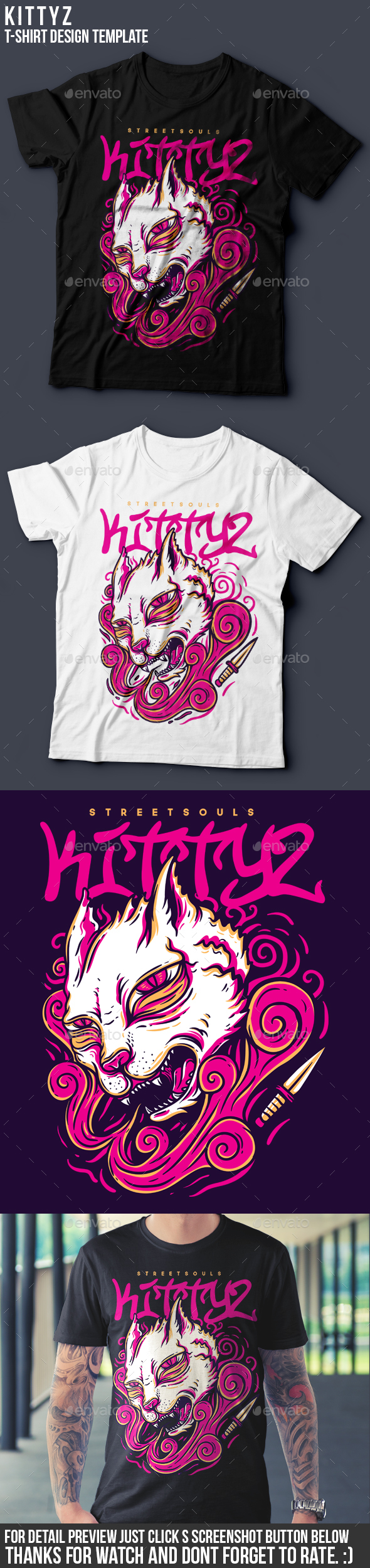 Kittyz T-Shirt Design - Funny Designs
