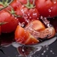 Slices of Ripe Tomato Falls on the Table. - VideoHive Item for Sale