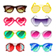 Sunglasses Icons Vector Set - GraphicRiver Item for Sale