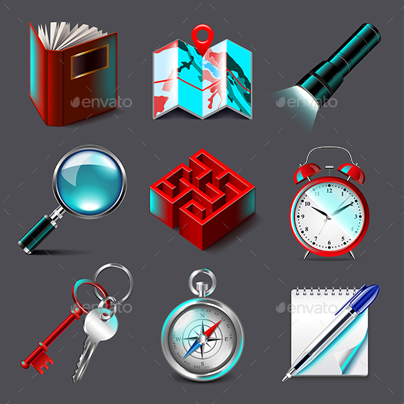 Quest Icons Vector Set - Miscellaneous Vectors