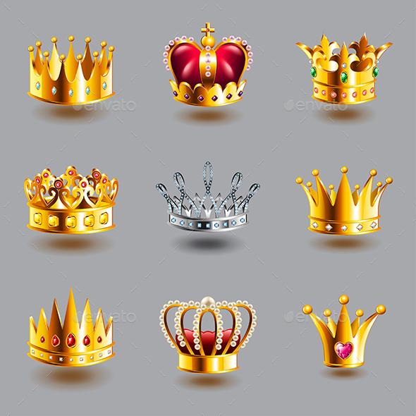 Crowns Icons Vector Set - Miscellaneous Vectors