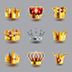 Crowns Icons Vector Set - GraphicRiver Item for Sale