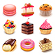 Cakes Icons Vector Set - GraphicRiver Item for Sale