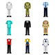 Professions Uniforms Icons Vector Set - GraphicRiver Item for Sale