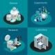 Scientific Laboratory 2X2 Isometric Design Concept