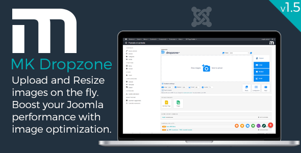 MK Dropzone - Upload and Resize images for Joomla! Improve Joomla performance Best Scripts