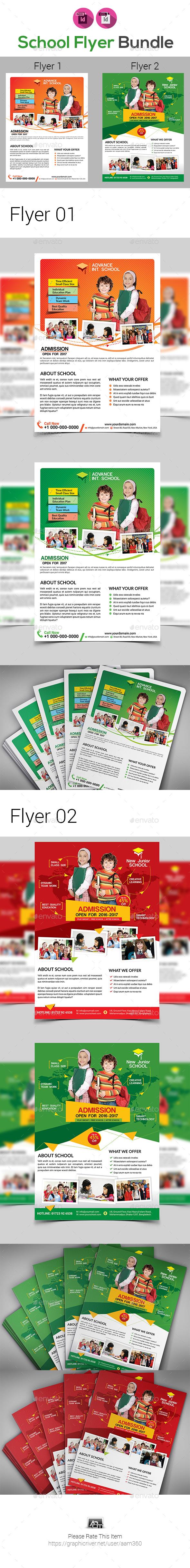 School Flyers Templates Bundle - Flyers Print Templates