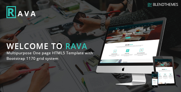 Rava – Creative One Page Multipurpose HTML Template