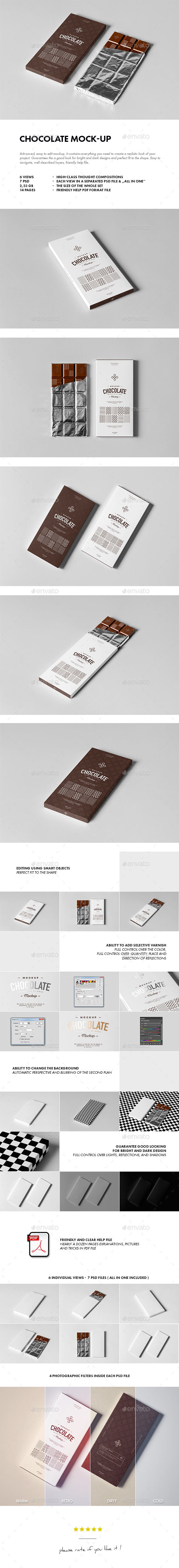 Chocolate Mock-up - Food and Drink Packaging