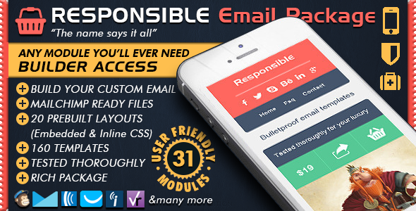 Responsive Email Builder - RESPONSIBLE - Email Marketing Newsletter Templates + Online Editor Access - Newsletters Email Templates